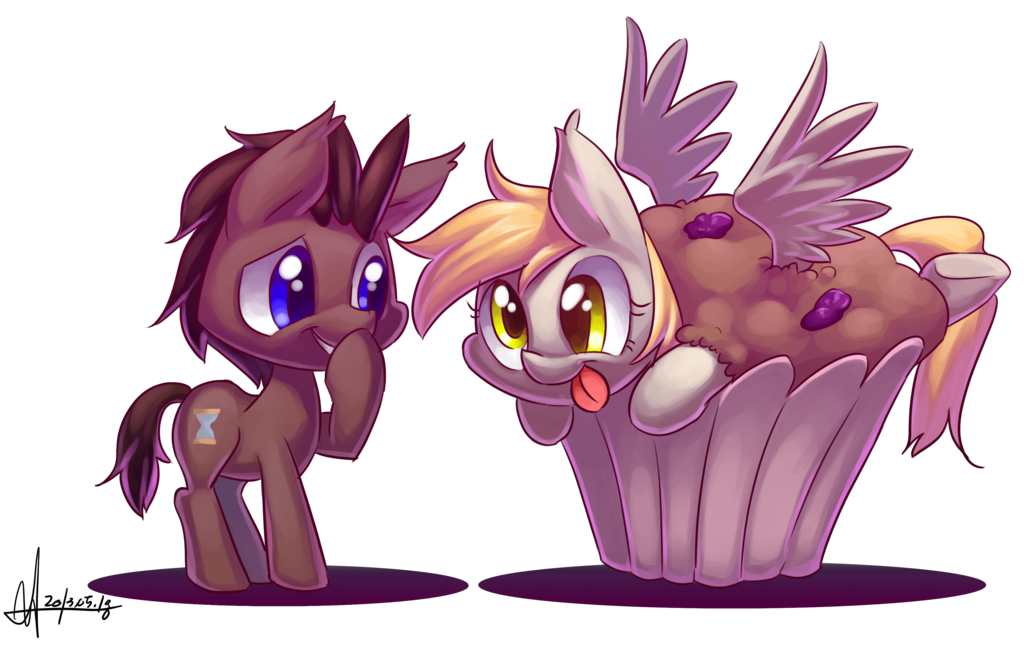 Derpy Hooves X Doctor Whooves Images Derpy Hooves In A Giant Muffin
