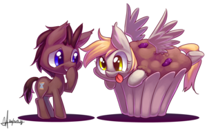 Derpy Hooves in a giant muffin Weiter to Doctor Whooves