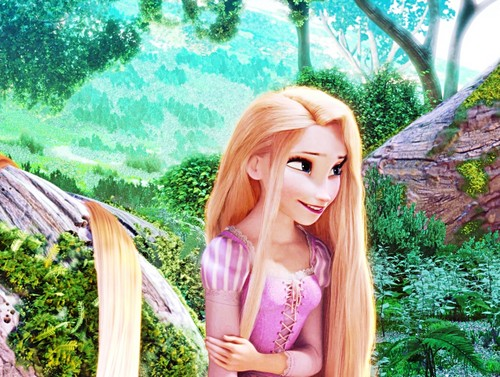 디즈니 프린세스 바탕화면 possibly containing a portrait called 디즈니 Princess 이미지 - Princess Rapunzel with Elsa's Eyes
