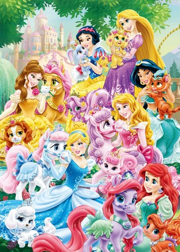 Disney Princess karatasi la kupamba ukuta entitled Disney Princess Palace Pets