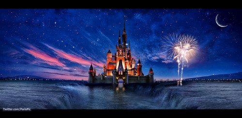 Disney wallpaper entitled Disneyland Castle California Edit Wallpaper (@ParisPic)