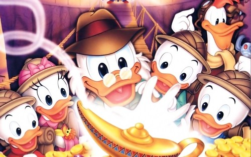 Childhood Animated Movie Heroes wallpaper titled Ducktales Wallpaper