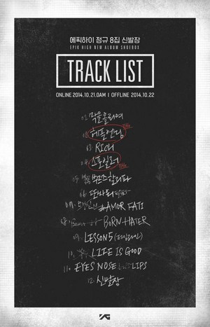 EPIK HIGH tracklist for ''