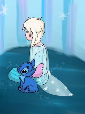 Elsa and Stitch
