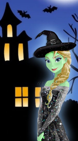 Elsa is ready for Halloween!