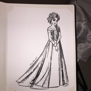Elsa sketch lithograph