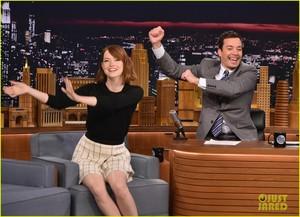 Emma Stone on The Tonight mostra