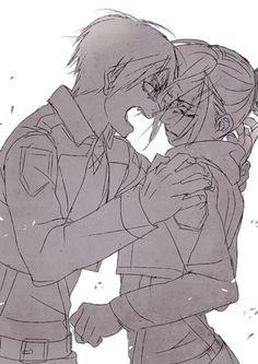 Shingeki no Kyojin (Attack on titan) wallpaper entitled Eren and Annie