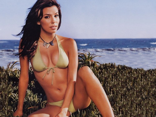 Eva Longoria wallpaper containing a bikini titled Eva