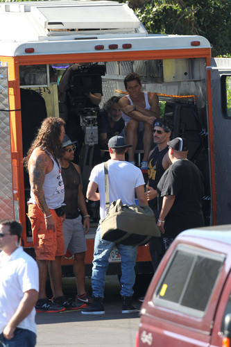 Matt Bomer kertas dinding entitled Filming MAGIC MIKE XXL, 01.10.2014