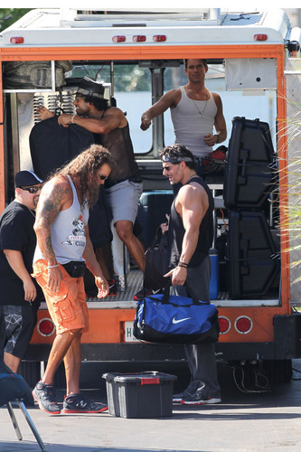 Matt Bomer wallpaper titled Filming MAGIC MIKE XXL, 01.10.2014