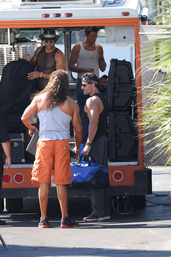 Matt Bomer wallpaper entitled Filming MAGIC MIKE XXL, 01.10.2014