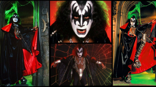 KISS wallpaper possibly containing anime titled Gene Simmons