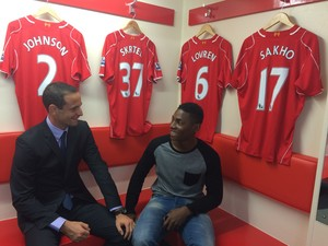 Gregoire Akcelrod Visits Liverpool Football Club
