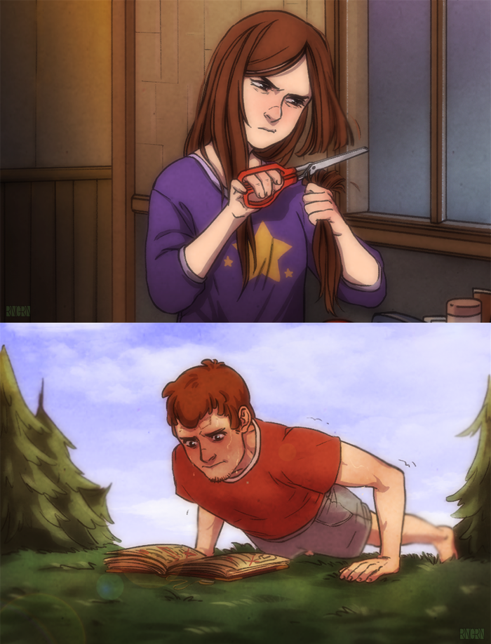 Grown up Dipper and Mabel
