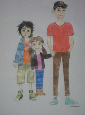 Hiro, Tadashi and Gwen for Winxclubgirl202
