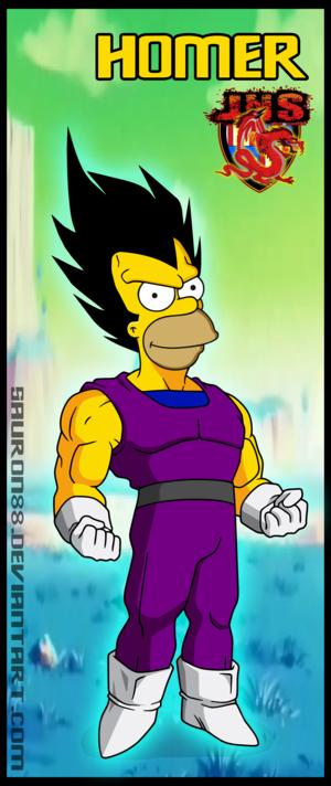 Homer fusionado con vegeta