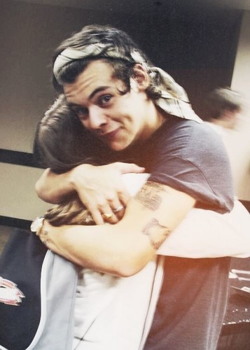 harry styles fondo de pantalla possibly with a sign called I want a Harry hug ♥