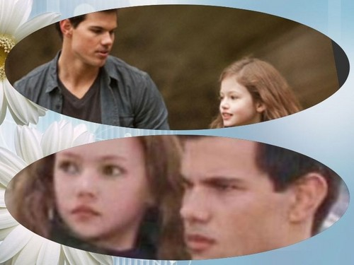 Jacob Black and Renesmee Cullen karatasi la kupamba ukuta called Jacob and Nessie