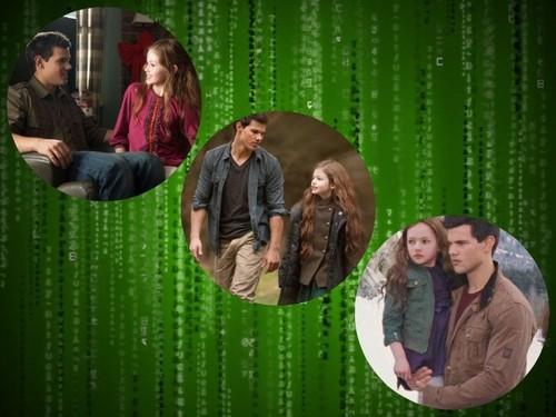 Jacob Black and Renesmee Cullen karatasi la kupamba ukuta called Jacob and Nessie