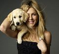 Jen with a puppy