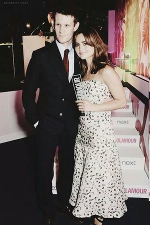 Jenna Coleman with Matt Smith at Glamour Women of the Year 2014 Awards