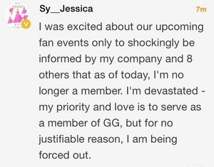 Jessica Kicked out of SNSD Weibo message
