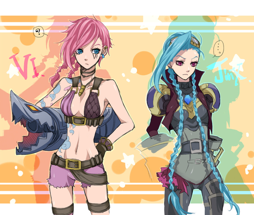 League of Legends images Jinx and Vi wallpaper and ...