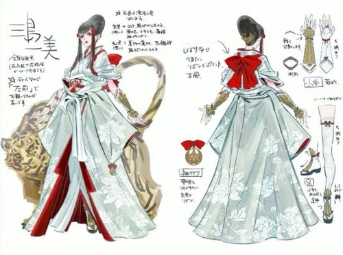 Tekken wallpaper possibly with a polonaise called Kazumi Mishima | Concept Art by Mari Shimazaki