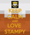 Keep calm and Liebe stampy