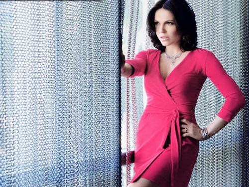 Physical Beauty wallpaper with a chainlink fence titled Lana Parrilla