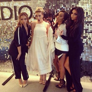 Little Mix backstage at the BBC Radio 1 Teen Awards 2014