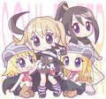 Liz, Patty, Maka, Tsubaki, and Blair