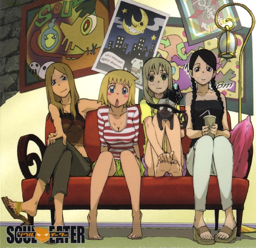 Liz and Patty Thompson wallpaper with animê entitled Liz, Patty, Maka, Tsubaki, and Blair