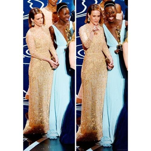 Lupita Nyong'o and Sarah PaulsonOscars