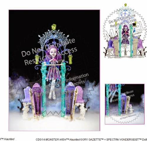 Monster High wallpaper possibly with anime entitled MH Haunted Spectra Playset