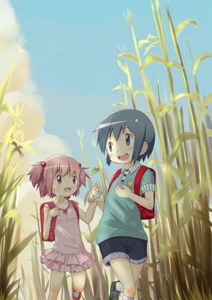 Madoka and Sayaka Young