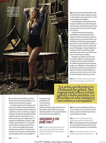 Ali Larter wallpaper possibly containing a newspaper called Magazine Scans