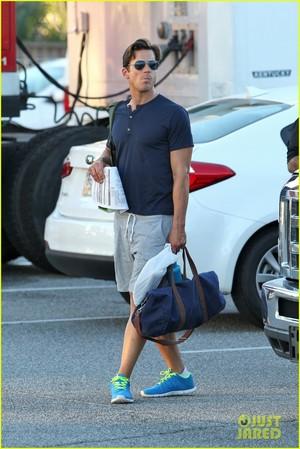 "Matt arriving on the set of ""Magic Mike XXL"", Tybee Island, Georgia, 30.09.2014"