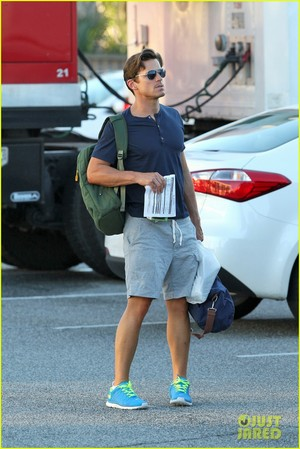 "Matt arriving on the set of ""Magic Mike XXL"", Tybee Island, Georgia, 30.09.2014"