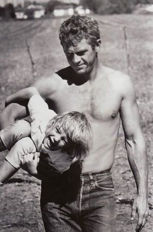 McQueen and daughter