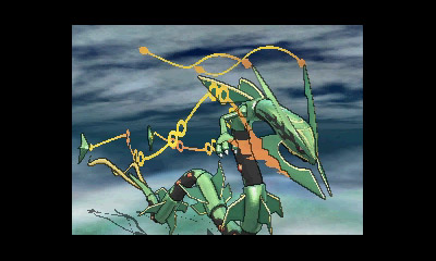 Pokémon wolpeyper with a sumac called Mega Rayquaza!