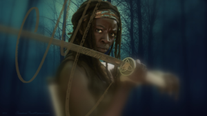 Michonne (1366x768 wallpaper)