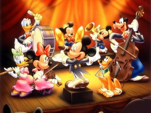 Mickey and friends wallpaper
