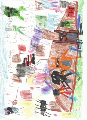 Minecraft World par Charlie Crosby Age 5