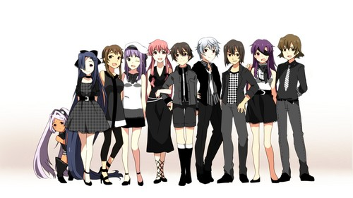 mirai nikki wallpaper possibly containing a well dressed person called Mirai Nikki Characters