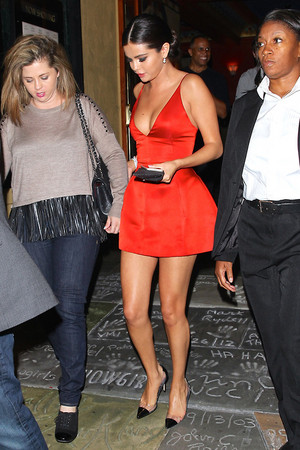 October 07: Selena and Mandy leaving the Rudderless premiere in Los Angeles, CA.