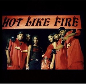 On the set of 'Hot Like Fire'