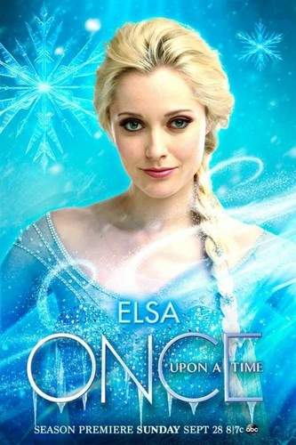 Elsa the Snow Queen hình nền with a portrait called Once Upon a Time - Elsa Poster