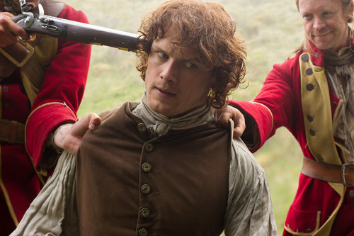 Outlander 2014 TV Series karatasi la kupamba ukuta possibly with a horse trail and a horse wrangler titled Outlander - Season 1